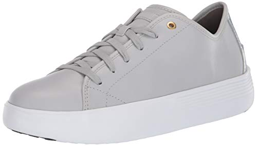 Cole Haan Grand Crosscourt Tenis Tenis Flatform para mujer, gris (Harbor Mist piel/Iridescent Specchio), 35.5 EU