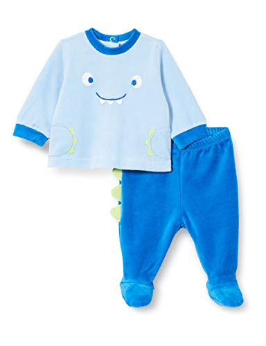 Chicco Completo Coprifasce + Ghettina Mamelucos para bebés y niños pequeños, Azzurro e BLU, 50