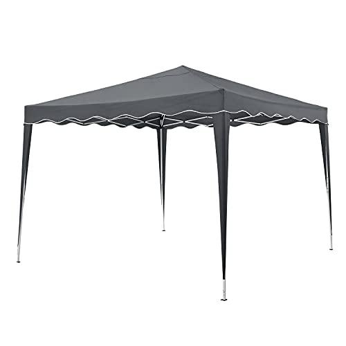 ArtLife Faltpavillon Vivara 3x3 m – Pop-up Pavillon höhenverstellbar, UV50+ & wasserabweisend – Gartenzelt mit Tasche – Partyzelt für Garten – Grau