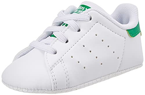 adidas Stan Smith Crib, Sneaker Unisex bebé, Footwear White/Footwear White/Footwear White, 17 EU