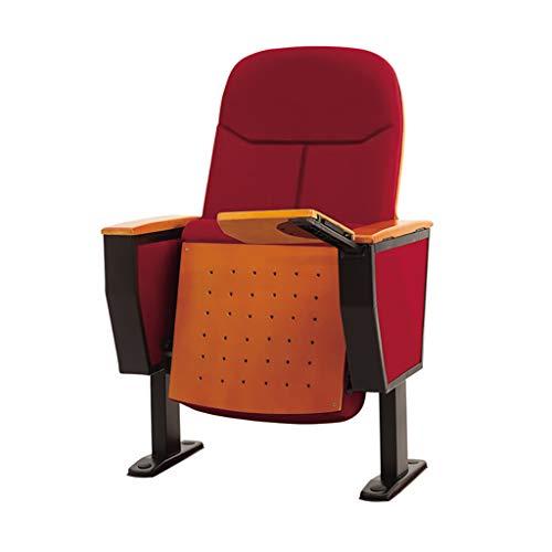 como Hilera de sillas de auditorio, sillas de Teatro, sillas de Cine con tableros de Escritura Ocultos Plegables, cómodos apoyabrazos, Rojo