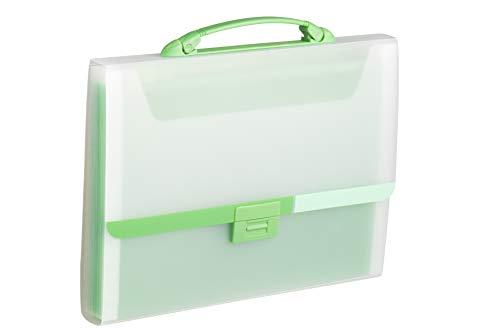 Tarifold Es 511305- Carpeta Clasificadora Acordeón A4 con Asa, color Verde
