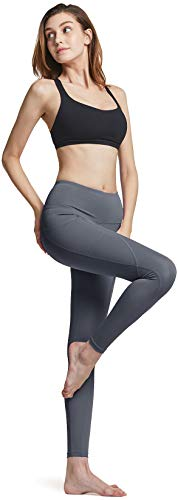 ATHLIO High Waist Yoga Pants with Pockets, Tummy Control Yoga Leggings, 4 Way Stretch Non See-Through Workout Running Tights
