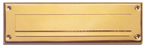 Briefeinwurf-geprägt-320 x 95 mm -Messing poliert-Briefklappe-Briefschlitz (Nr. 205-320 x 95 mm Mess. pol.)