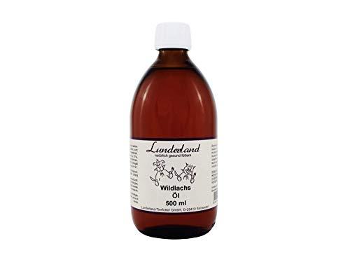 Lunderland Wildlachsöl 500ml Glasflasche, Einzelfuttermittel für Hunde