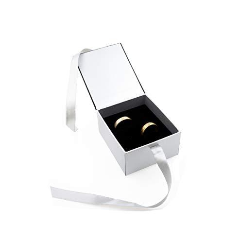 Estuche para anillos de boda, caja de alta calidad, caja para anillos de boda, para San Valentín, 2 unidades