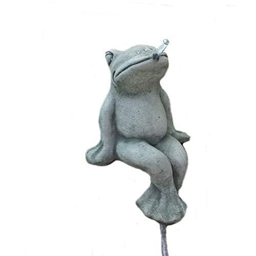 Steinfigur Frosch Wasserspeier Kröte als Kantenhocker Steinguss Frostfrei