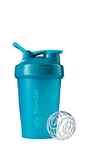 BlenderBottle Classic Shaker Bottle Perfect for Protein Shakes and Pre Workout, 20-Ounce, Teal