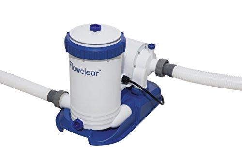 Bestway 58392E Flowclear 2,500 Pool Filter Pump, 2500gal, White