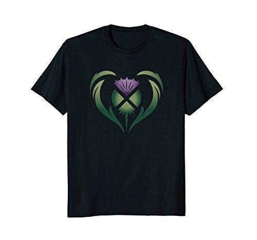 Heart of Scotland Colorful Thistle Saltire Celtic Shirt