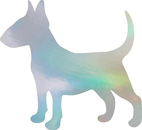 ANGDEST Bull Terrier Silhouette ! (Hologram) (Set of 2) Premium Waterproof Vinyl Decal Stickers for Laptop Phone Accessory Helmet Car Window Bumper Mug Tuber Cup Door Wall Decoration