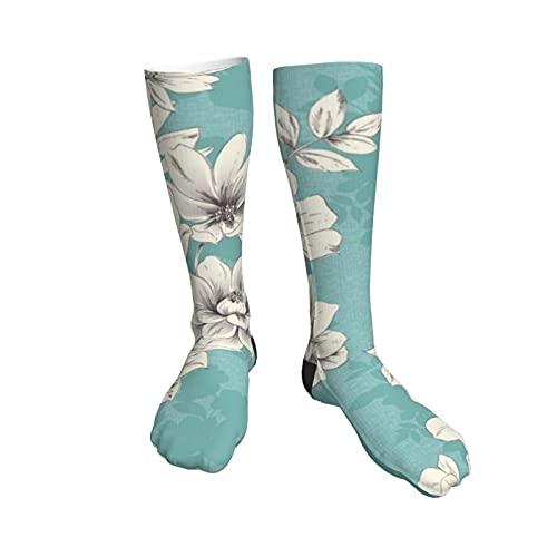 Flower10 Womens Socks,50cm Athletic Tube Socks Over The Calf Stockings Non See Through Cute Cartoon Thigh High Stockings Comfort Breathable Casual Socks