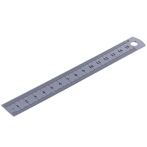 tellaLuna 15cm 6 Pulgadas Regla de Metal Inoxidable Herramienta de Medicion