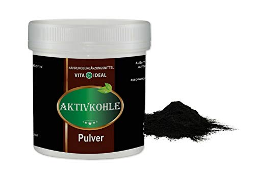 VITA IDEAL ® Aktive Kohle, Aktivkohle 100% reines pflanzliches PULVER 100g
