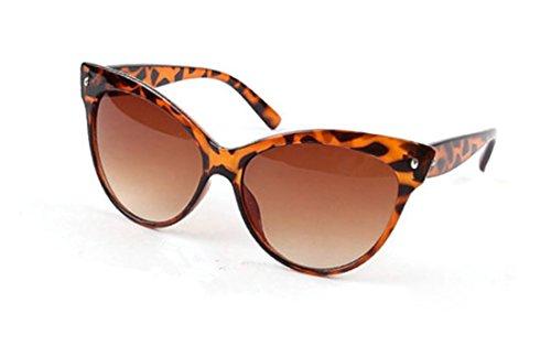 Ardisle Gato Ojo Gafas de Sol Ojo de gato Señoras Mujeres Retro Vintage Shades Oversized Diseñador Grande (Leopard)