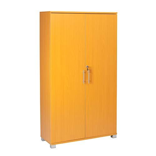 Büroschrank Ablageschrank stationärer Schrank - Büromöbel, 4 Regale - 2 Türen - 800mm breit - massive Speicherkapazität – Platz für 40 x A4 Akten-Ordner