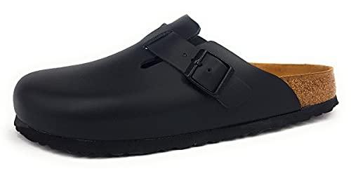 Birkenstock Schuhe Boston Naturleder Schmal Black (060193) 43 Schwarz