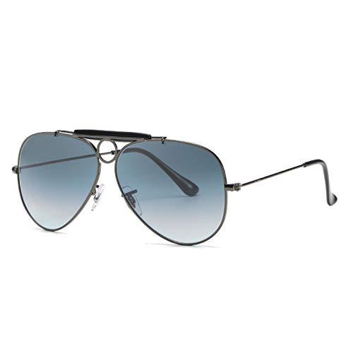 WJJH Gafas de Sol polarizadas de Moda de Vidrio Classic Men's Big Frame Sunglasses Driver Driving Gafas de Sol Saplo Espejo,Q1