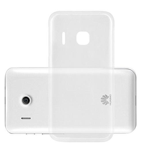 Preisvergleich Produktbild Cadorabo Hülle für Huawei Ascend Y320 - Hülle in VOLL TRANSPARENT Handyhülle aus TPU Silikon im Ultra Slim 'AIR' Design - Silikonhülle Schutzhülle Soft Back Cover Case Bumper