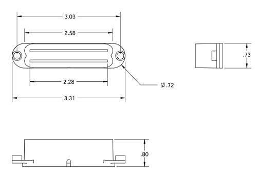 Seymour Duncan shr-1N-c pastilla Humbucker formato Simple Hot Rails Strat Micro para guitarra eléctrica, color blanco