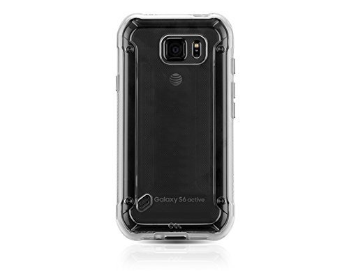 Case-Mate Naked Tough Case for Samsung Galaxy S6 Active (S6 ACTIVE ONLY) - Retail Packaging - Clear