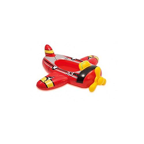 CAGO INTEX 59380NP Kinder Schlauchboot Pool aufblasbares Boot Badespaß Reittier , Variante:rot_Flugzeug