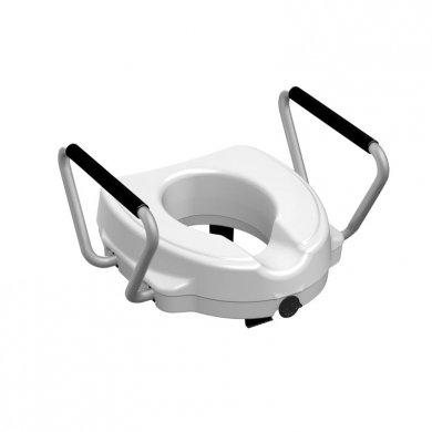 Rialzo per seduta WC 12,5 cm rialzo water con braccioli fissi a vite centrale portata 130kg