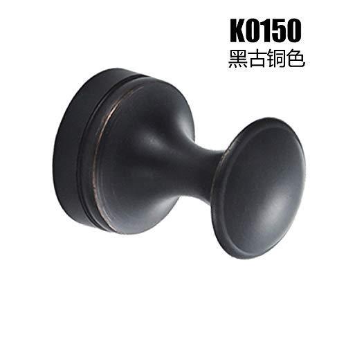 Armatuur voor badkuip, kleine badkamerkast, mini badkamer, eenvoudige ronde kop, badkap, haken, kleine haak voor keuken en badkamer, ronde haak Black Gu - Round Head Hook