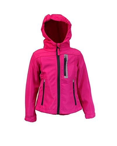 Kinder Mädchen Softschelljacke Outdoorjacke Übergangsjacke Jacke (pink, 110/116) Fallen Kleiner AUS Siehe GRÖßENTABELLE BEI DEN Fotos