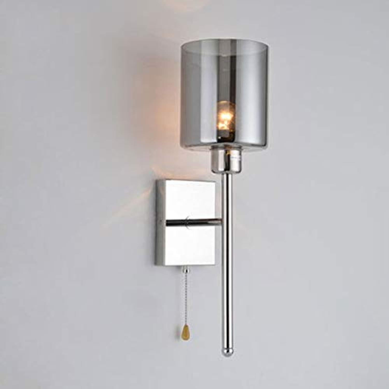 Moderne Wandleuchte Zugkette Schalter Wandleuchten Grau Glas Schatten Wandleuchte Leuchten, Mit Zugkette Schalter