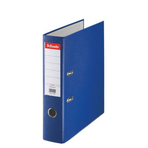 Esselte-Leitz 11255 - Archivador de plástico, con anillas, A4, color azul: Amazon.es: Oficina y papelería