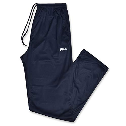 Fila Men's Big and Tall Athletic Dri Power Open Bottom Workout Pant Navy