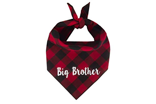 Willowear Dog Bandanas Big Brother Red Large