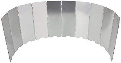 Silverdee 10 Placas Estufa Plegable Parabrisas Cocina Estufa de Gas Escudo de Viento Picnic Utensilios de Cocina Cortavientos Equipo de Campamento al Aire Libre