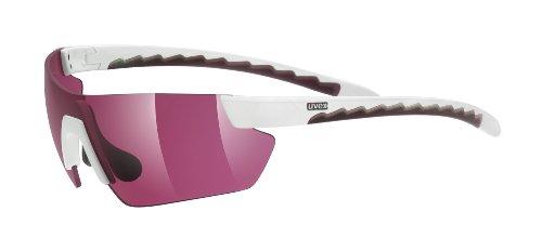 Uvex Active Shield Fahrrad/Sport Brille Weiss/braun