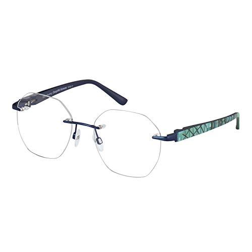 Change Me randlose Brille 2536-1 mit Wechselbügel 8748-11 blau
