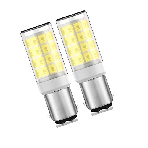 KLENTLY BA15D - Bombillas LED de luz diurna blanca 6000 K 5T7DC base de doble contacto bayoneta bombillas de doble contacto para...
