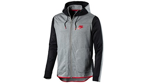Nike M NSW AV15 Hoodie FZ FLC - Sweatshirt Grau - XL - Herren