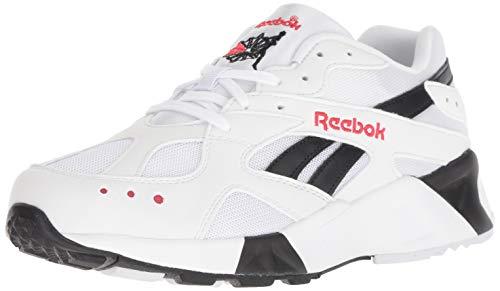 Reebok Men's AZTREK SHOES, White/Black/Excellent Red, 10 M US
