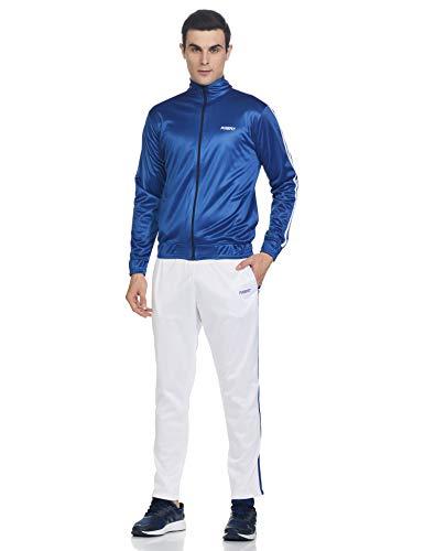 Fusefit Men's SP Stripe Track Suit, SPORTS BLUE / WHITE, Medium (FFA-MO008-03-M)