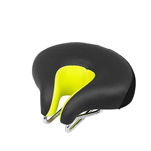 amAng Fahrradsattel ohne Nase Fahrrad Kissen U Style Fahrradsitz Bequemer Fahrradsitz (Gelb)