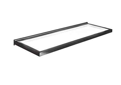 Torino Wandregal, beleuchtetes Glas, 600 mm, Schwarz