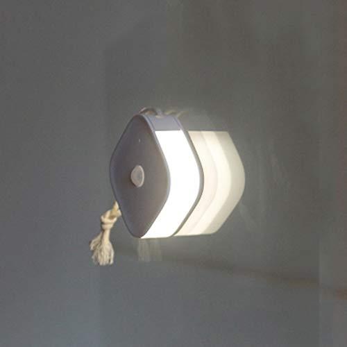 Luz Nocturna Luz Quitamiedos Infantil Lámpara De Inducción Cuerpo Humano Portátil Lámparas Armario Luz Lateral Luz Noche USB LED Carga Armario del Pasillo del Dormitorio La Sala De Estar