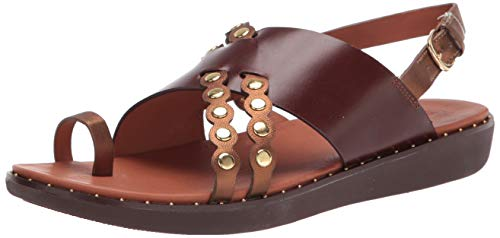 FitFlop Women's Wedge Sandal, Chocolate Brown, 8
