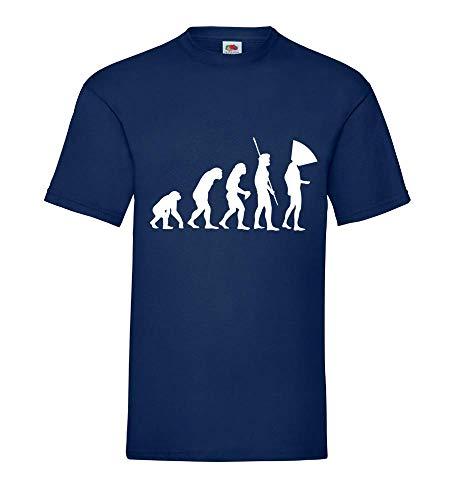 Evolution Hundehalskragen Männer T-Shirt Navy L - shirt84.de