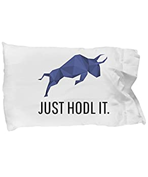 Official Polymath Just Hodl It Cryptocurrency Standard Size White Pillow Case Crypto Miner Blockchain Invest Trade Buy Sell Hold POLY