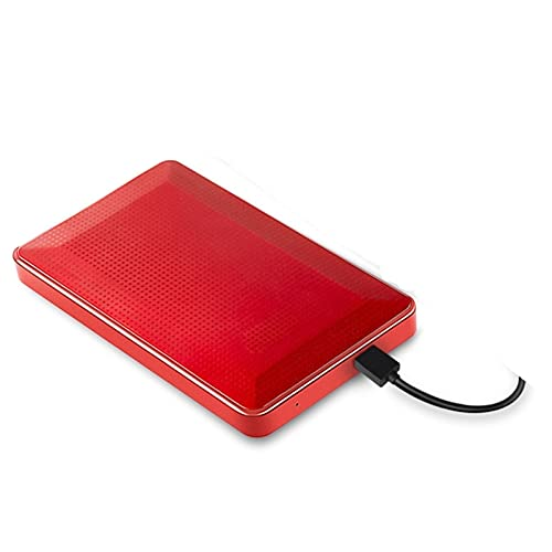Tbagem-Yjr Hard Disk Esterno, Ssd Esterno Desktop Despansione Drive Esterno HDD □ USB 3.0 per Sistemi PC/Laptop/Linux (Color : Red, Size : 500GB)