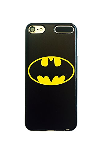 Phone Kandy Nero iPhone XS Max Batman Cover morbida in TPU per iPod Touch Marvel DC Comics Deadpool Supereroe colore