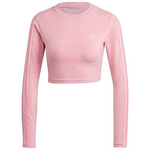 adidas Originals Cropped Long Sleeve Womens H18842 Size XS Light Pink