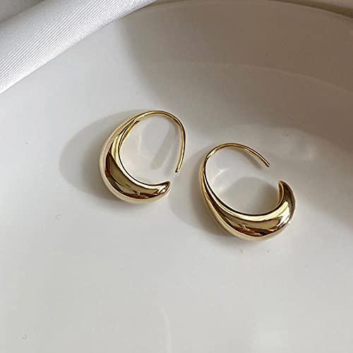 YFZCLYZAXET Ohrstecker Ohrring Damen 925 Sterling Silber Ohrstecker Frauen Trendy Vergoldete C-Form Ohrring Schmuck-Gold